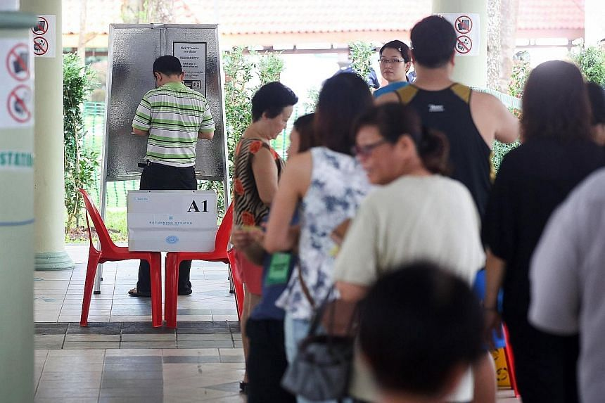 People started queueing early yesterday to vote in the Bukit Batok by-election. At Block 105A, Bukit Batok Central, 10 voters were in line at 7.30am, half an hour before the booths opened. By 7.59am, there were nearly 50 people. Some had their famili