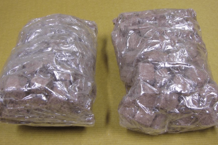 Heroin seized at Woodlands Checkpoint on May 7, 2016.