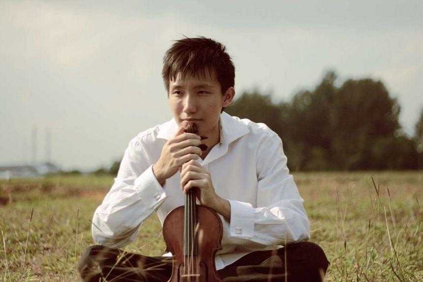 Violinist Loh Jun Hong, 25, single