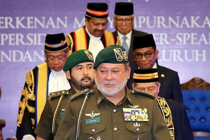 The Sultan of Johor, Sultan Ibrahim Iskandar, after speaking at the 2016 Conference of Parliamentary and State Assembly Speakers of Malaysia in Johor Baru on Saturday.