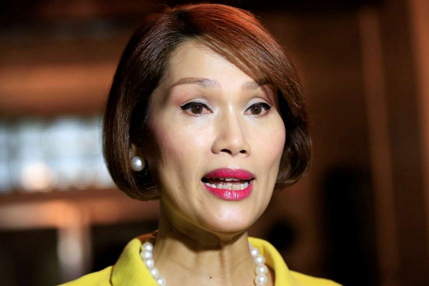 Transgender congressional candidate Geraldine Roman answers questions during a Reuters interview in Manila, on May 6, 2016.