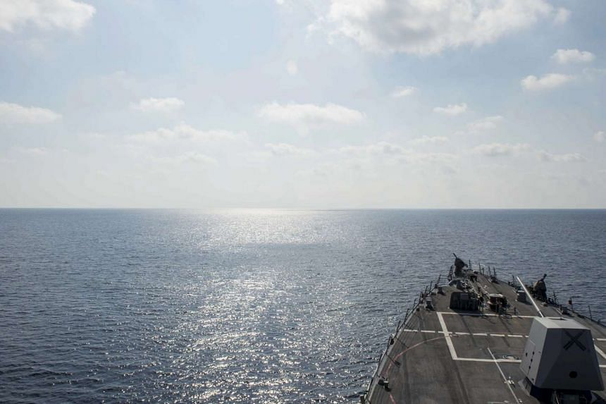 Guided-missile destroyer USS William P. Lawrence (DDG 110) conducting a routine patrol in international waters in the South China Sea, on May 2, 2016.