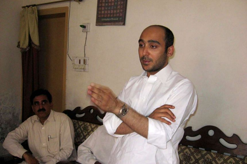 Ali Haider Gilani speaking at a campaign meeting in a house on the outskirts of Multan, on May 9, 2013, before his abduction by unidentified gunmen.