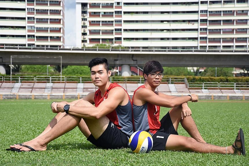 Mark Shen, 20, (left) and Benjamin Yio, 19, will represent Singapore at the FIVB Under-21 World Championships in Lucerne, Switzerland this week. A women's team will also participate.