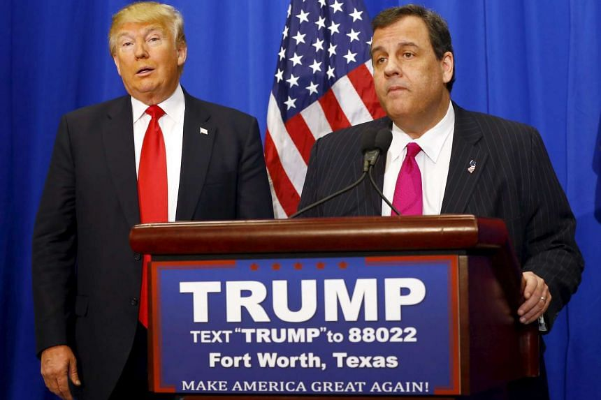 US Republican Presidential candidate Donald Trump and New Jersey Governor Chris Christie (right) attend a campaign rally in Texas in February.