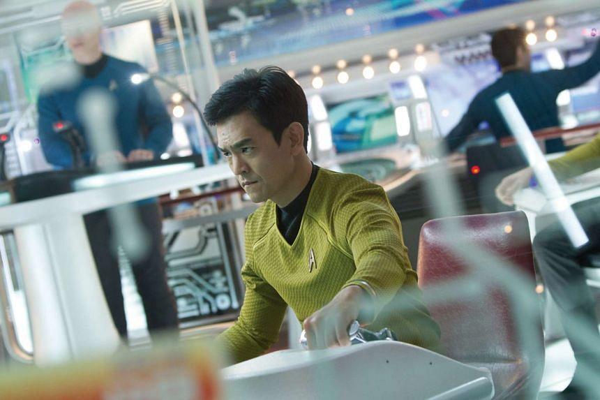 Actor John Cho in Star Trek Into Darkness.