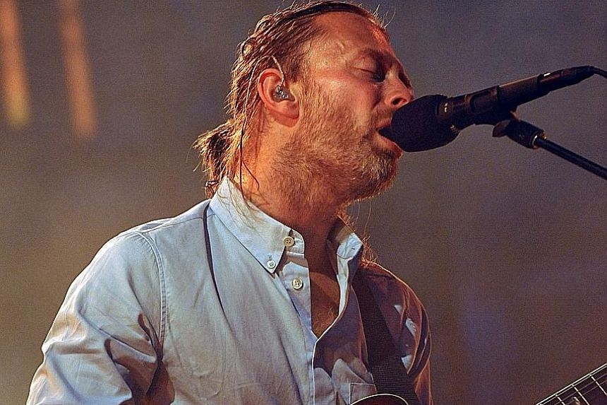 Radiohead frontman Thom Yorke (above) sings of the human and relatable.