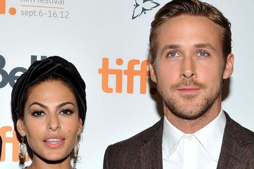 Eva Mendes and Ryan Gosling (both above).