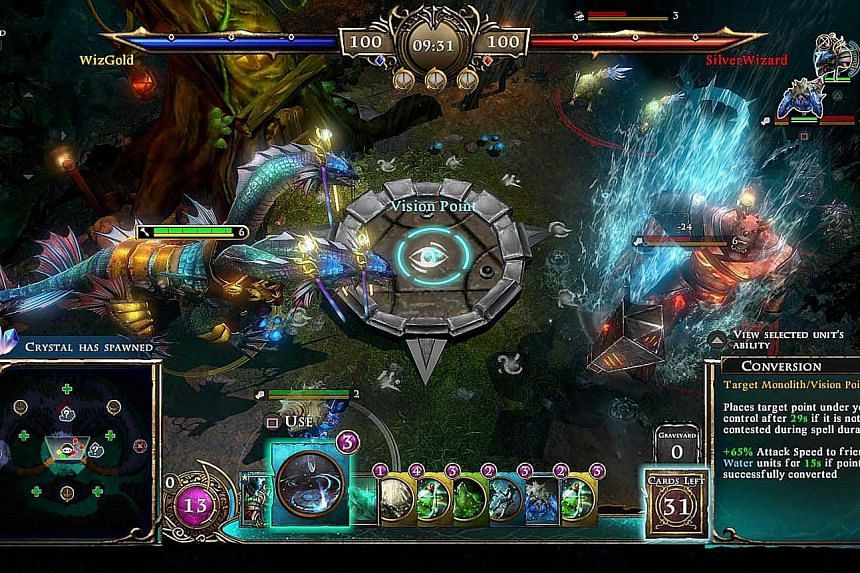 Armagallant is a cross between a deck-building game and a real-time strategy game.