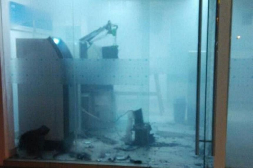 The thieves got away with about RM70,000 after they blasted open an ATM in a bank in the small town of Membakut.