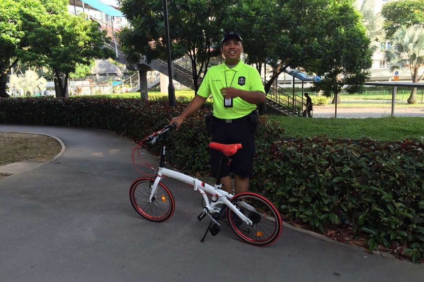 Land Transport Authority's Active Mobility Enforcement Officer Nursuhbi Achis, 29, is part of a new LTA team that will seek to deter reckless behaviour on footpaths.