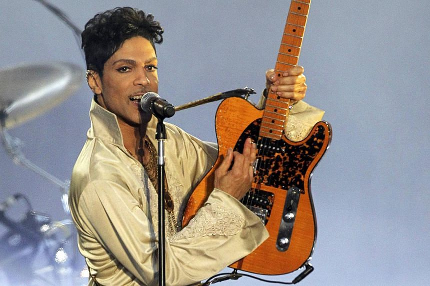 US musician Prince performing at the Hop Farm Festival near Paddock Wood, southern England, on July 3, 2011.