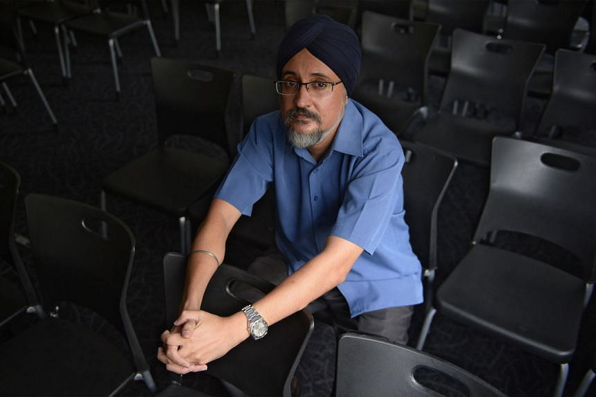 Mr T.S. Amarbir Singh, 45, says he does not know if he is doing a good enough job in caring for his mother, who suffers from dementia.