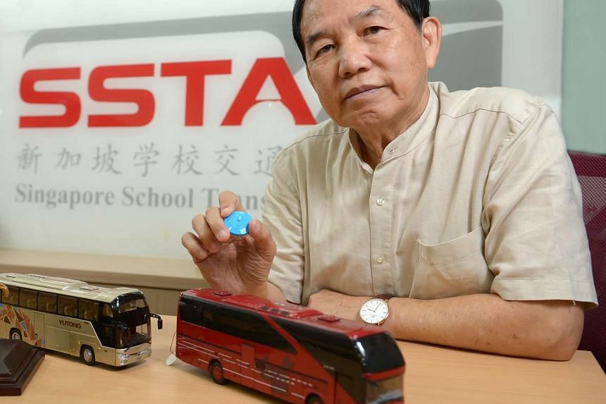 Mr Wong, chairman of the Singapore School Transport Association, says the School Bus Management System will enable bosses to coach their drivers to be better.
