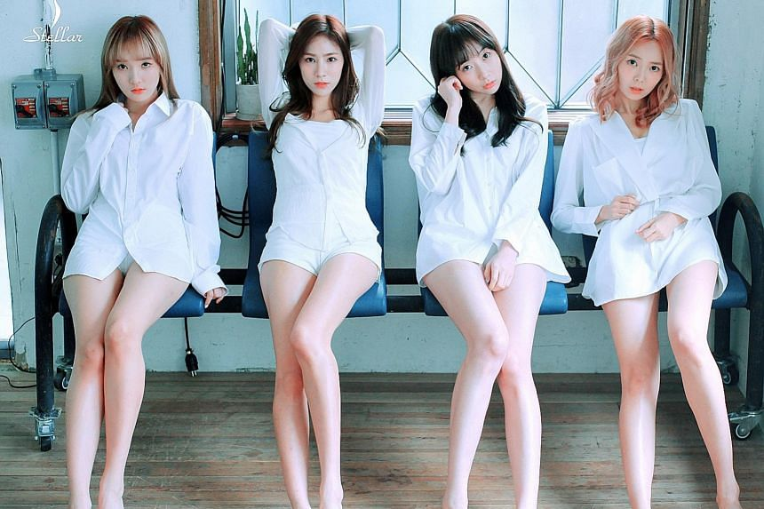 The members of Stellar - (from left) Joo Min Hee, Jeon Youl, Kim Gayoung and Lee Hyo Eun.