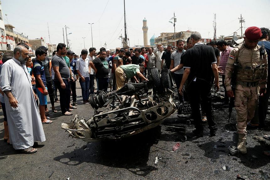 Dozens of angry people gathering at the scene of the worst attack yesterday. A pick-up truck packed with explosives went off near a beauty salon in a bustling market in the Sadr City area.