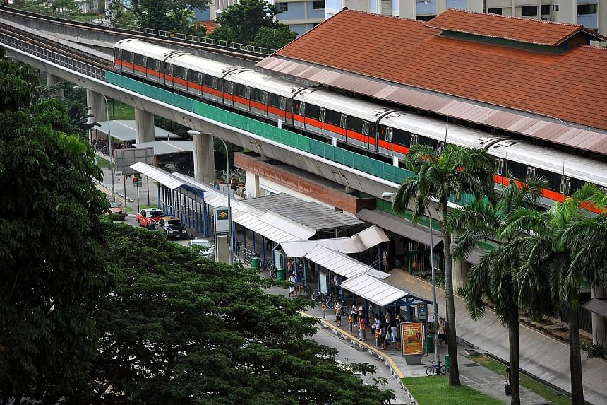 SMRT suspects that lightning struck a location between Yio Chu Kang and Khatib stations at 3.46pm, disrupting southbound service from Yishun (above) to Yio Chu Kang stations for about 50 minutes.
