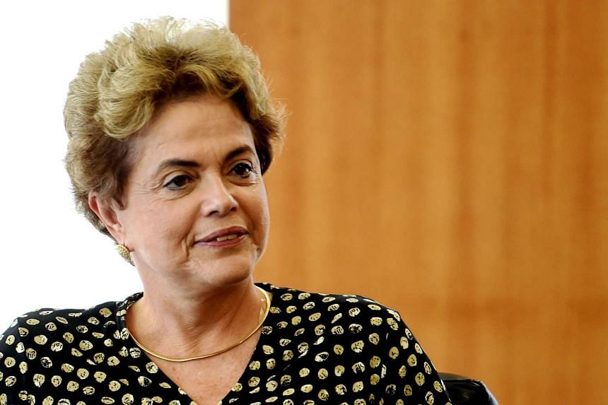 Brazilian President Dilma Rousseff during a meeting at Planalto Palace in Brasilia, on May 10, 2016.