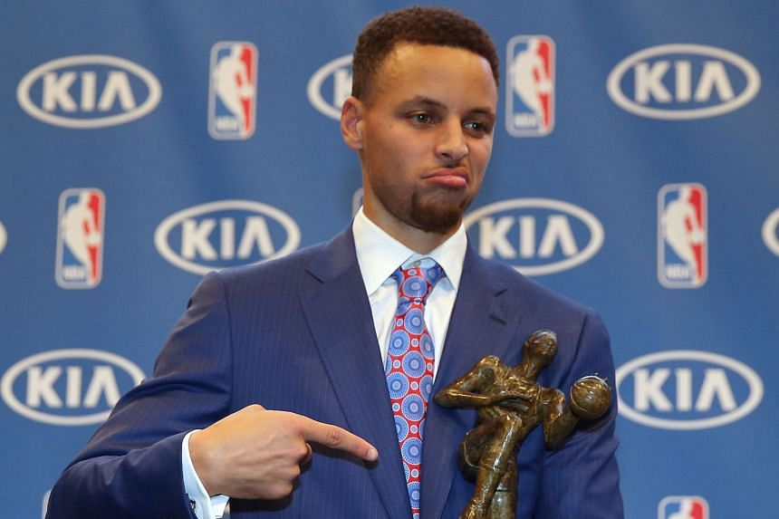 "Golden State Warriors star Stephen Curry with his second consecutive MVP trophy. His reaction was equal parts honest and humble:""To be the first unanimous MVP award winner is something I don't even know how to put into words."""