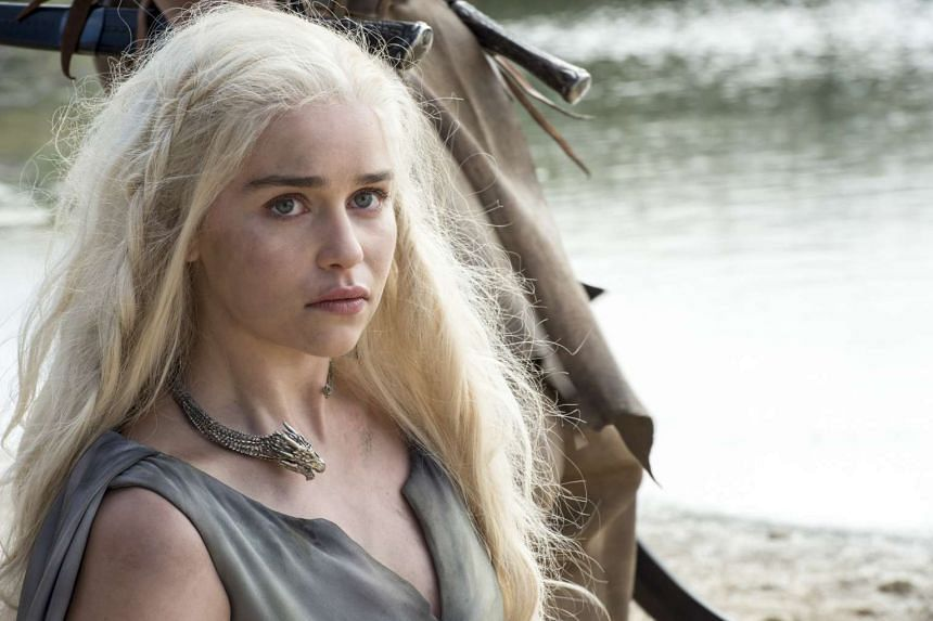 A still from the HBO TV series Game Of Thrones, starring Emilia Clarke.