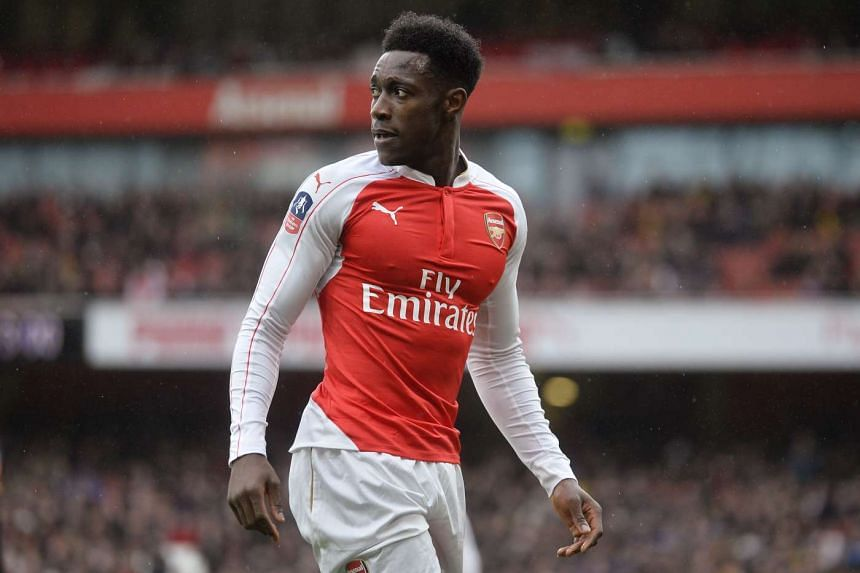 Welbeck (above) had previously spent 10 months on the sidelines after injuring his left knee.