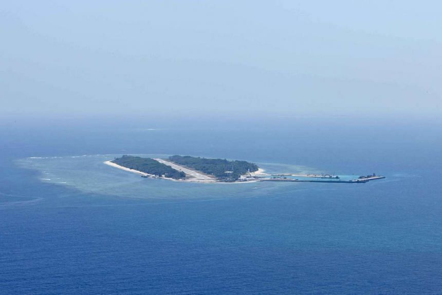 View of Itu Aba, which the Taiwanese call Taiping, at the South China Sea, on March 23, 2016.
