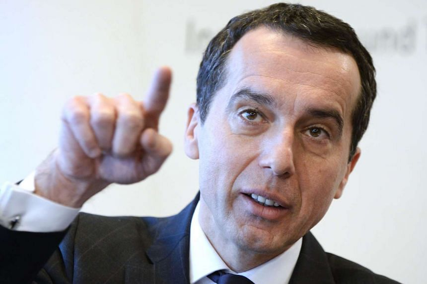 CEO of the Austrian Federal Railways (ÖBB) Christian Kern during a press conference in Vienna, on Jan 31, 2014.