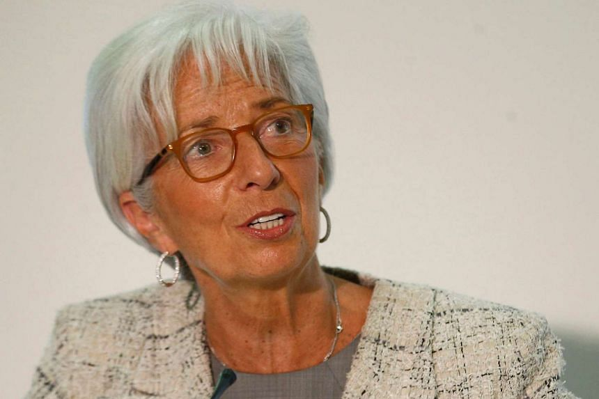 Christine Lagarde speaks during a press conference at the Treasury Office in central London on May 13, 2016.