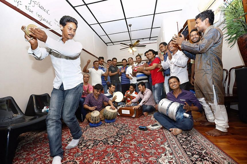 Dibashram, located in a Rowell Road shophouse, organises various activities for migrant workers such as poetry competitions, photography exhibitions and festive celebrations.