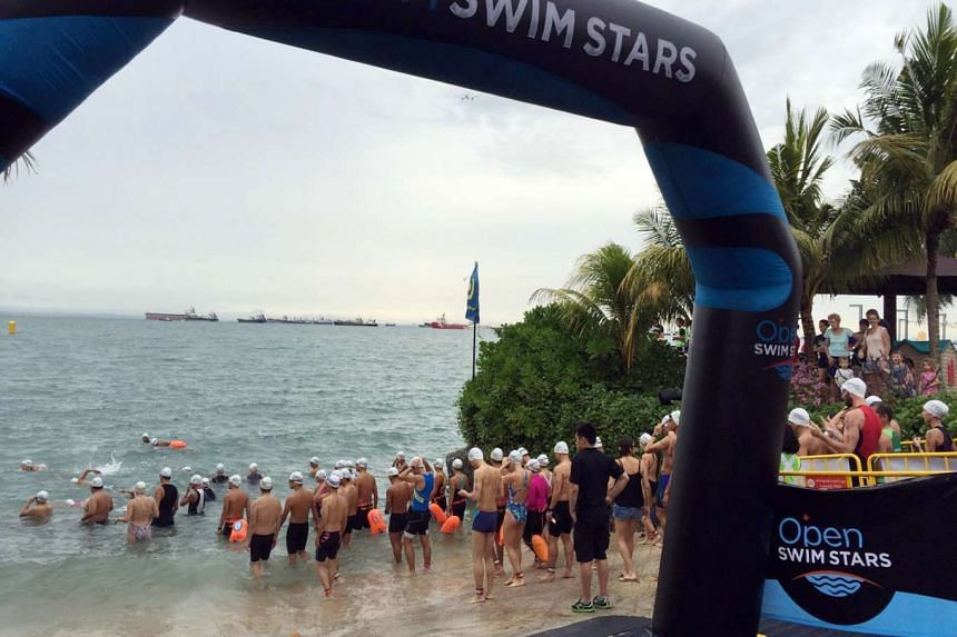 Participants at the first Open Swim Stars Sunset Race organised by Sports Swim Organisation.