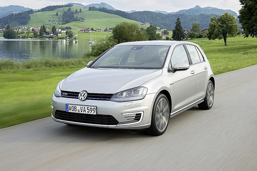 The Golf GTE is much heavier than its petrol-powered sibling, but it is significantly more efficient.
