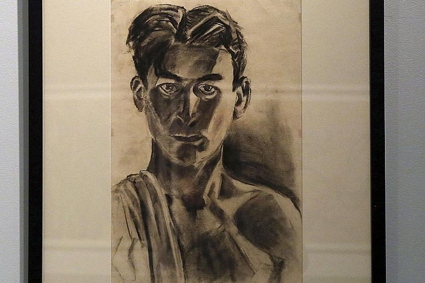 A 1929 self-portrait by Burle Marx that is also on display.