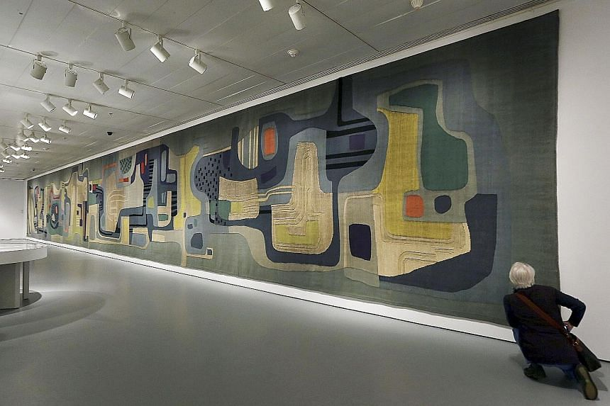 A 1969 wool tapestry made for the Santo Andre Civic Centre (above), both by Roberto Burle Marx.