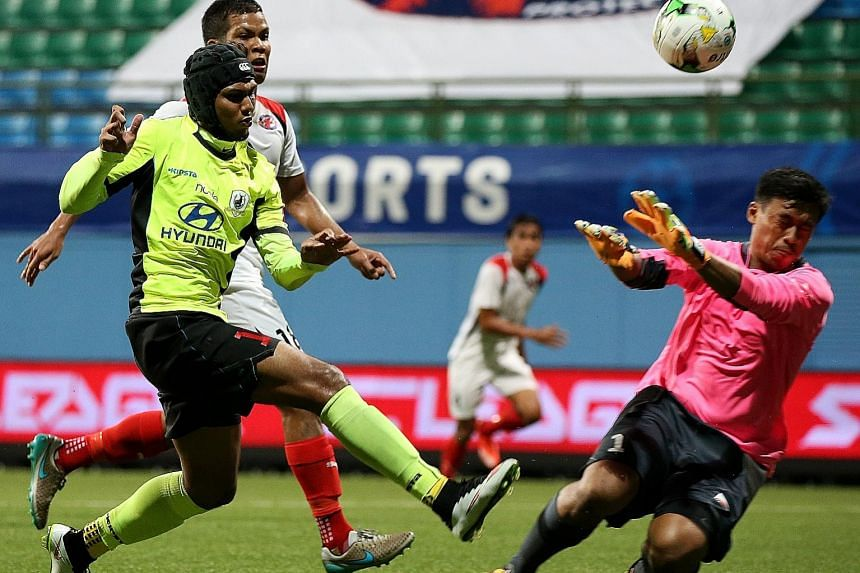 Fazrul Nawaz scoring the game's opening goal, but it was not enough to prevent Tampines from falling to Home United.