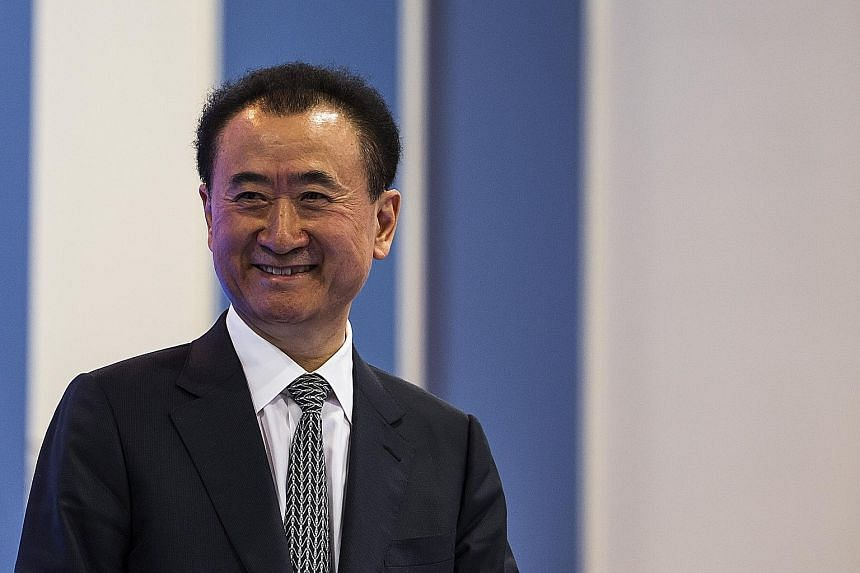 It is unclear who controlled the Twitter account, which posted details of Alibaba Group chairman Jack Ma (left) and Dalian Wanda Group chairman Wang Jianlin (above).