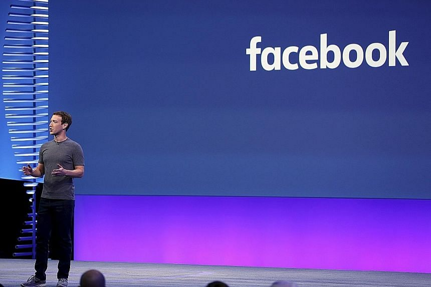 "Mr Zuckerberg addressing a conference in San Francisco in April. The Facebook CEO said on Thursday that ""every tool we build is designed to give more people a voice and bring our global community together""."