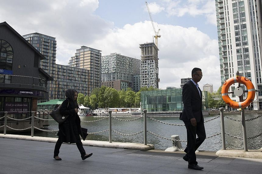 The Canary Wharf business, financial and shopping district in London. Mr Iswaran pointed out that if Britain were to exit the European Union, many Singapore businesses looking at Britain as a way to enter the EU will have to recalculate, and that wou