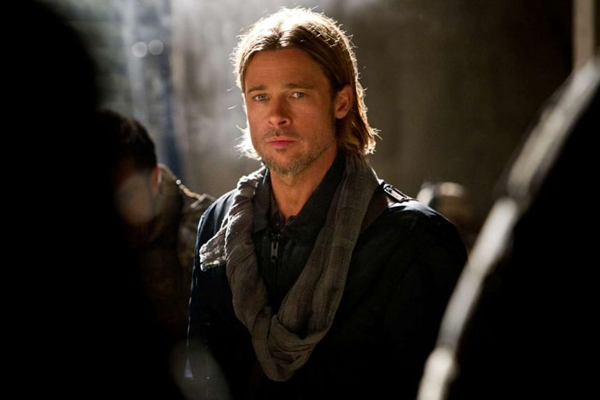 Pitt in a still from the movie World War Z.