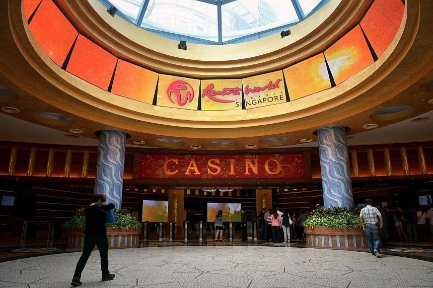 The casino entrance of Resorts World Sentosa.