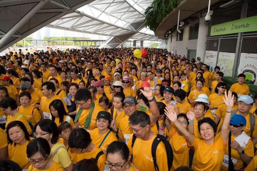 A record 8,000 participants, and 200 staff participants and volunteers attended FairPrice Walks With U 2016.