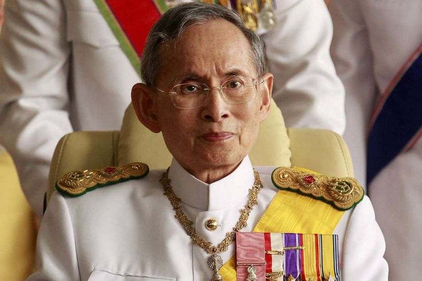 King Bhumibol Adulyadej (above, in a 2010 file photo) is being treated with antibiotics for inflammation in his knees.