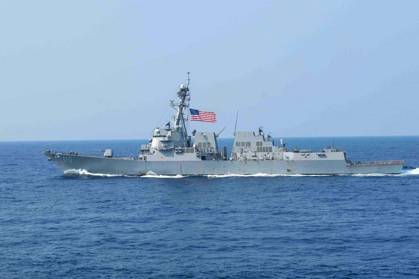 "The US on May 10, 2016, sailed a warship close to a disputed South China Sea reef Beijing has built up into an artificial island, officials said, prompting China to express ""dissatisfaction and opposition""."