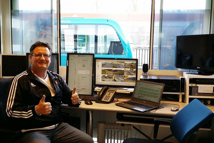 Mr Moelker relishes his job as a controller who is responsible for the operation of six self-driving buses that ply a 1.8km network in the Rivium Business Park in Rotterdam, the Netherlands.