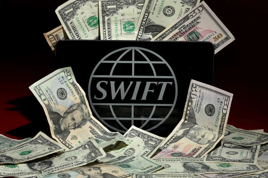 The Swift logo is pictured in this photo illustration taken on April 26, 2016.