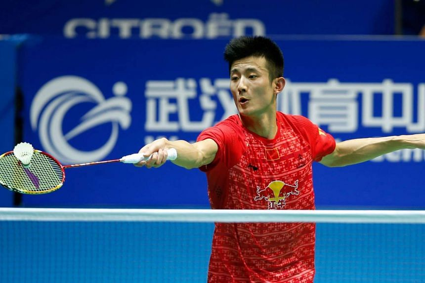 China's Chen Long in action during the 2016 Badminton Asia Championships, on May 1, 2016.