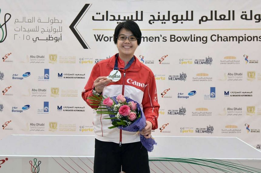 National bowler Cherie Tan at the Women's World Bowling Championships in Abu Dhabi on Dec 9, 2015.