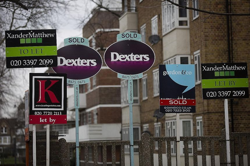 First-time home buyers spent £395,000 (S$778,500) on average in the fourth quarter last year on a London home, while the median gross salary for a full-time London worker was about £34,320 last year.