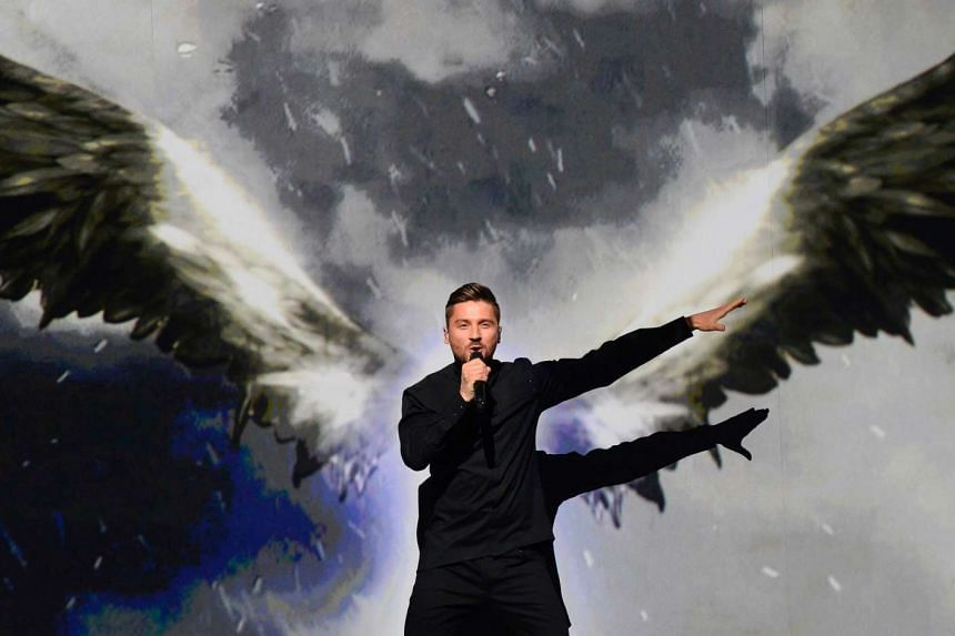 Sergey Lazarev, representing Russia with the song You Are The Only One, performs during the final.