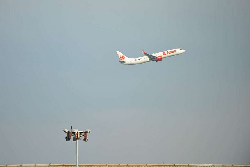 A Lion Air plane taking off from the Soekarno-Hatta airport in Jakarta, on May 18, 2010.