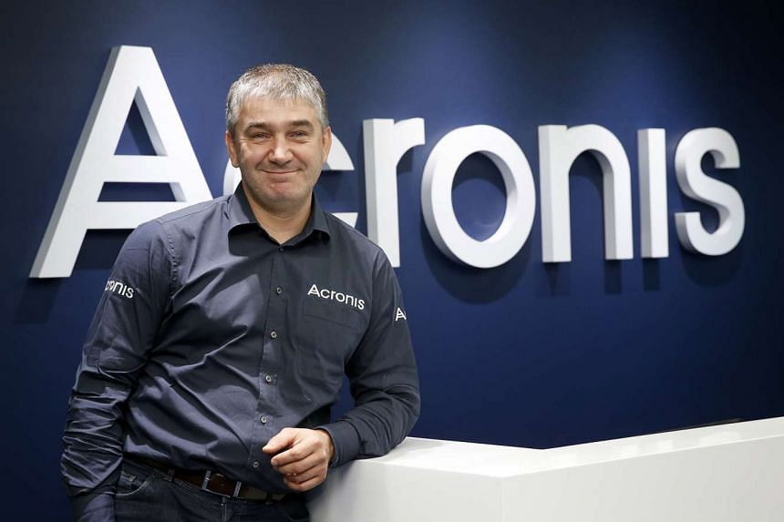 Mr Serguei Beloussov, founder and chief executive officer of data protection firm Acronis, in his office at Suntec Tower.